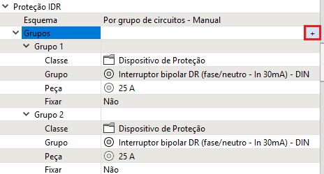 Neste caso, o usuário deve criar a quantidade de grupos desejada e  selecionar qual Classe e Grupo deseja utilizar  1ffb463537